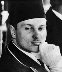 Young King Farouk of Egypt